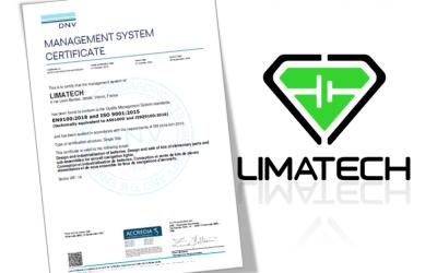 La certification EN 9100 de Limatech est renouvelée !
